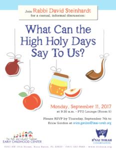 HHD discussion with Rabbi Steinhardt 2017