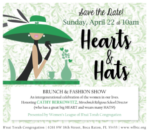 Hats Hearts save the date April 2018