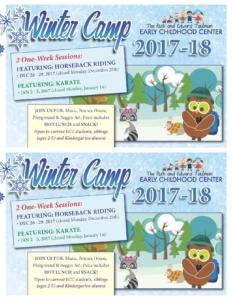Winter camp 2017 postcard